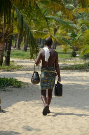 Toddy tapper Marari Beach